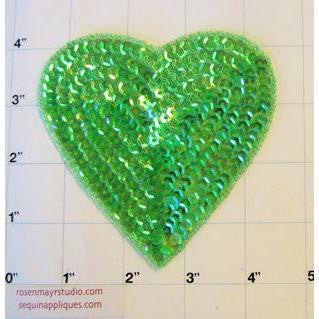Heart Dark iridescent Green  3 Size Variants 4