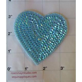Heart Light Blue 3""