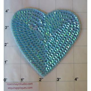 Heart Light Turquoise Translucent in 2 Size Variants