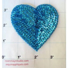 "Load image into Gallery viewer, Heart Turquoise in 2 size variants, 3"" & 4"""