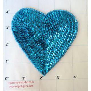"Heart Turquoise 4.5"" x 4.5"""