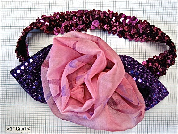 Mardi Gras FUNKY HEADBAND Custom Made