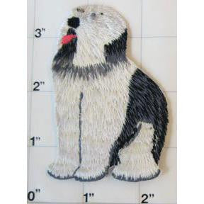 "Sheep Dog Embroidered Iron-on  3.5"" x 4"""
