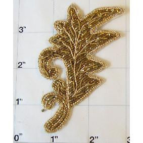 GOLD METALLIC BEADED LEAF