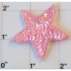 Star with Pink Sequins 2""