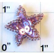 Star with Mauve Sequins 1""