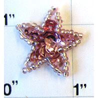 Star with Pink Sequins 1""