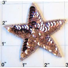 Star with Mauve Sequins 3""