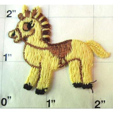 Pony Yellow Embroidered
