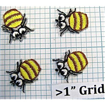 Bee's Set of  4 Embroidered 0.5""