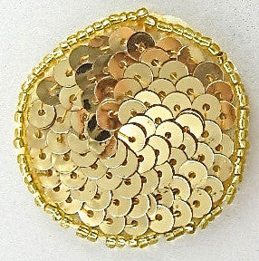 10 PACK Dots and Circles  Gold 1""