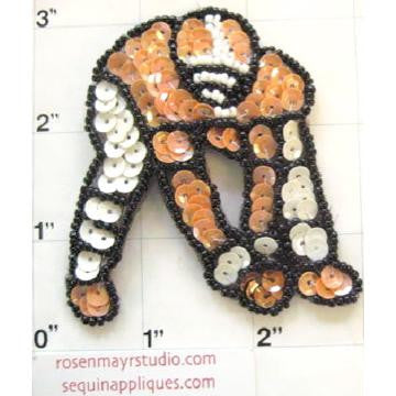 "Football Player with Orange Shirt 3"" x 3"""