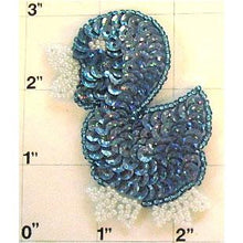 "Load image into Gallery viewer, Little Blue Duckling 2"" x 2.5"""