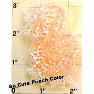 Duck Baby with Peachy Pink Sequins and Beads 3