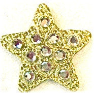 Star Crystal Gold Heat Transfer Iron-On 1/2""