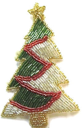 Tree for Christmas Multi-Colored Beads 5.5