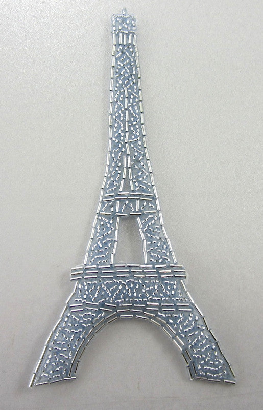 Eiffel Tower with Light Blue Beads 6.25