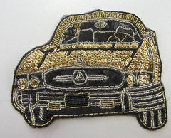 "Mercedes Front View Gold and Black and Silver Variant 6"" x 7.5"""
