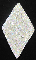 "Designer Motif Diamond Shape with Iridescent Sequins 2.75"" x 4.5"""