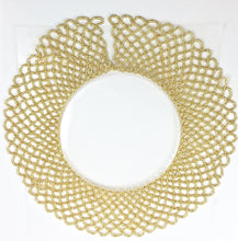 "Load image into Gallery viewer, Gold Beaded Collar Necklace with Clasp 16.5"" Long x 2.5"" Wide"