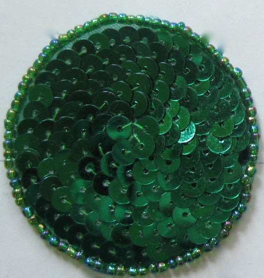 10 PACK Circles and Dots with Green Sequins and Beads Various Sizes