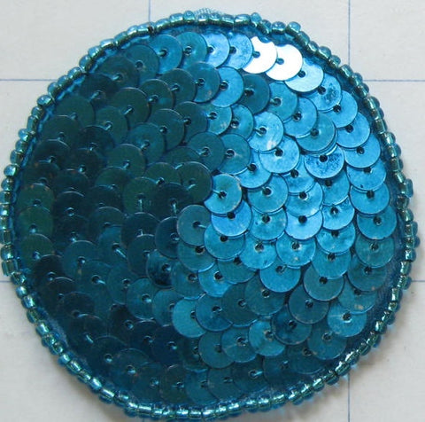 Circle Dot Turquoise Sequins and Beads Various Sizes -10 pack-