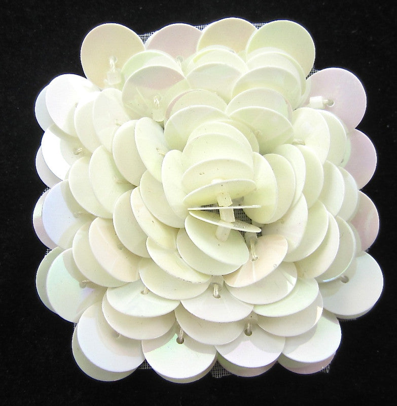 Flower High Rise with  China White Square Shaped 2""