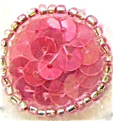 "Circle and Dot with Iridescent Medium Color Pink 2"" - Ten Pack"