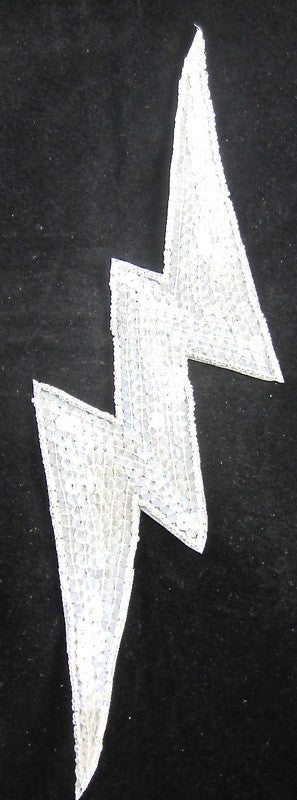 Lightening Bolt with Iridescent Sequins and Beads 3.5