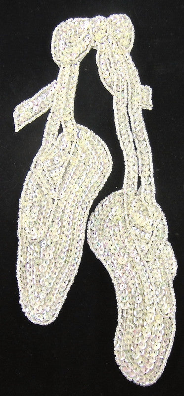 "10 PACK Ballet Slippers with Iridescent Sequins and Beads 9"" x 4"" - Sequinappliques.com"