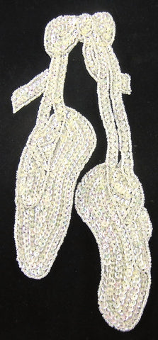 "10 PACK Ballet Slippers with Iridescent Sequins and Beads 9"" x 4"""
