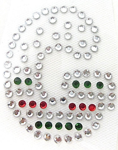 Letter G Hot Fix Iron-On Heat Transfer with Multi-Color Rhinestones 2""