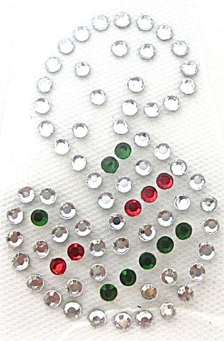 Letter S Hot Fix Iron-On Heat Transfer with Multi-Color Rhinestones 2""
