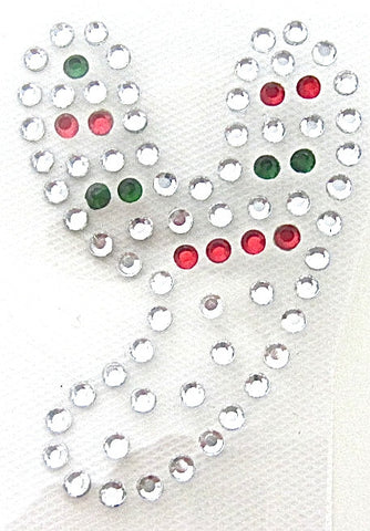 Letter Y Hot Fix Iron-On Heat Transfer with Multi-Color Rhinestones 2""