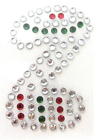 Letter Z Hot Fix Iron-On Heat Transfer with Multi-Color Rhinestones 2""