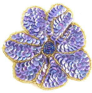 Flower with Lite purple Sequins 4""