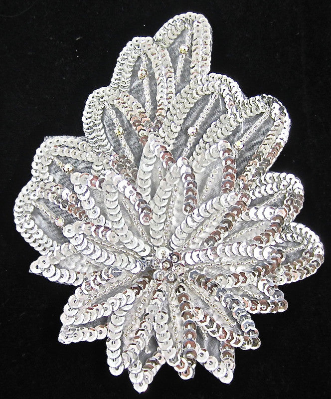 Leaf with Triple-Layer Sequins and AB Rhinestones 7