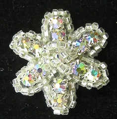Flower with AB Rhinestones  1""