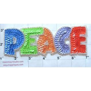 "PEACE Word Spelled Out 7"" x 2"""