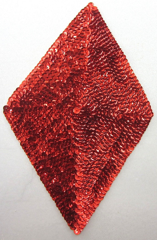 "Designer Motif Triangle Red Sequins 8.25"" x 5"""