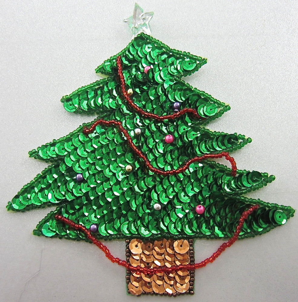"Tree for Christmas with Ornaments and Clear Star 5.5"" x 5"""