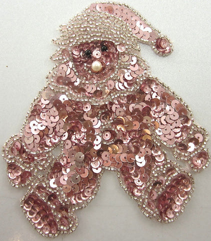 "Bear Pink with Clown Outfit 5"" x 4.5"""