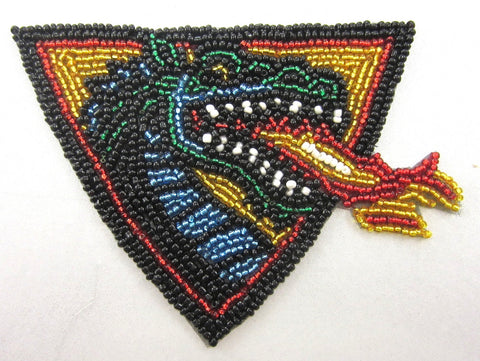 "Dragon Multi-Colored Beads  3.5"" x 4.5"""