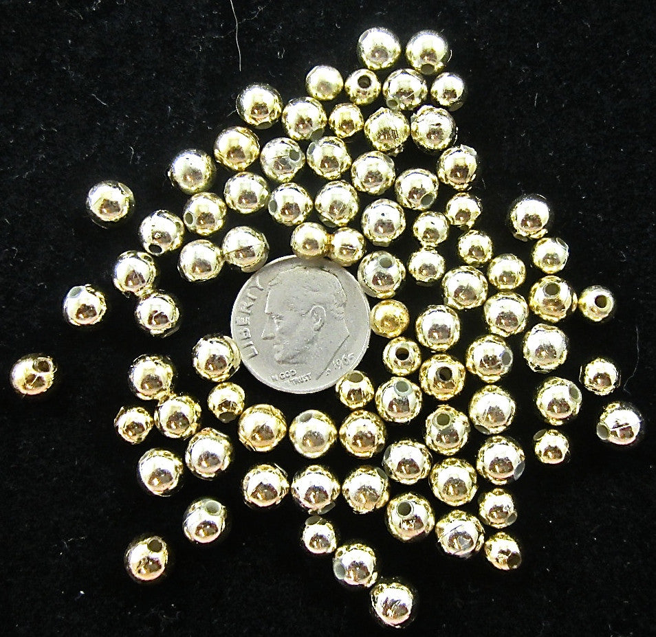 Beads Gold with Center Hole 1 lb 7 Oz