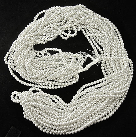Beads all White Pearls on a Hank 1  lb. 1 oz
