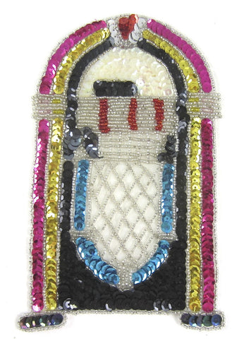 "Juke Box MultiColored Sequin Applique 8"" x 5"""