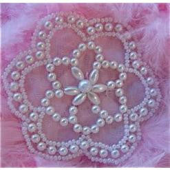 Motif Bridal Pearls Open Flower