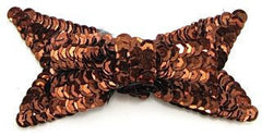 "Bow with Choice of Color Sequins Layered  3.75"" x 1.5"" x 1/2"""