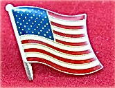 "Vintage American Flag Pin 1"" x 1"""