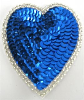 Heart Royal Blue 4""